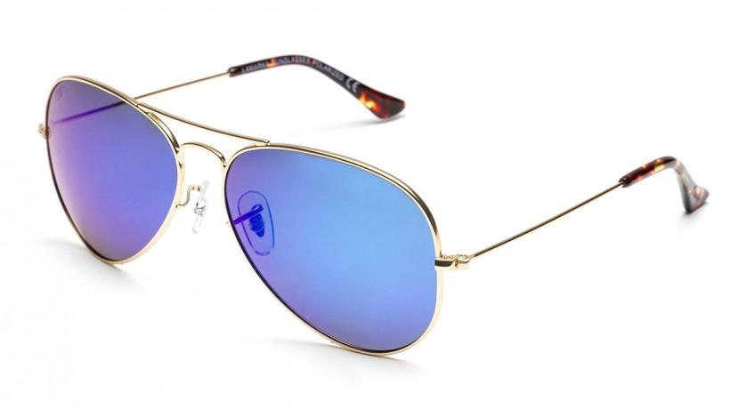 Gafa sol polarizada aviador azul espejo